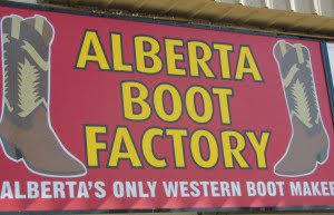 The Alberta Boot Factory in Calgary