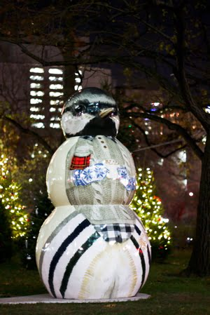 Snowman in Torontoland