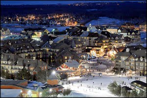 Blue Mountain Village, ski, snow, ontario, winter, sports