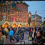 Victorian Industrial Buildings, distillery, Toronto Christmas Market, holiday,