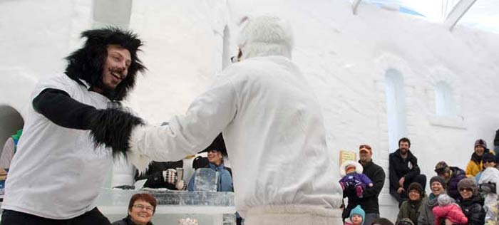 The Snowking Fesitival is held every year in Yellowknife