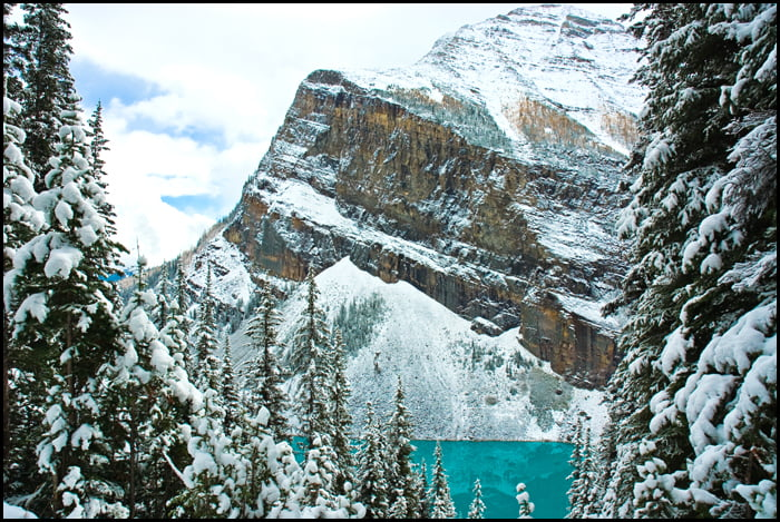 lake louise, hiking, winter, banff national park, alberta,