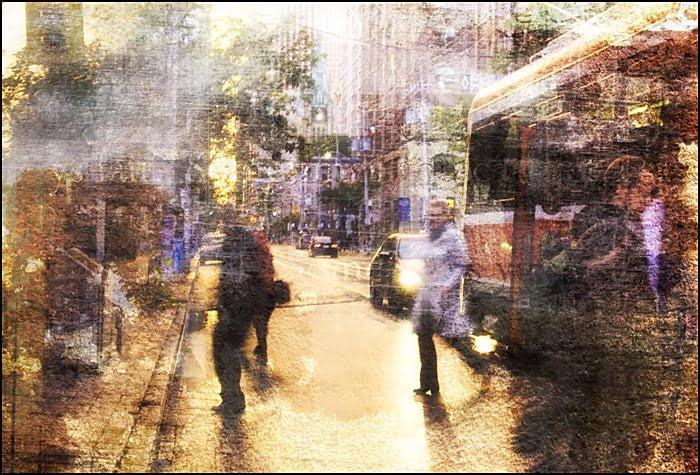 collage, toronto, streetcar, neighborhood, transit