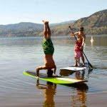 Paddle Boarding on Lake Skaha-bc