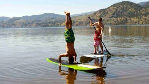 Paddle Boarding on Lake Skaha-bc