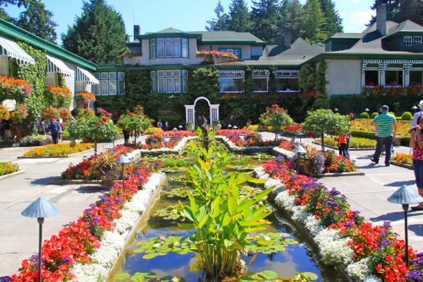 Butchart Gardens blooms all year Vacayca