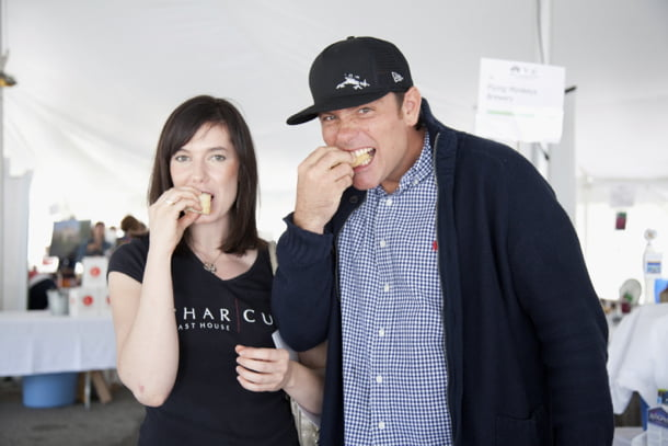 Connie DeSousa and Chuck Hughes at Savour Stratford