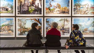 "An exhibit at the New Orleans Museum of Fine Art last January showing Montreal born photographer Robert Polidori's series ""After the Flood"" (2006). (Julia Pelish/Vacay.ca)"