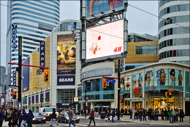 Dundas Square Eaton Center Toronto