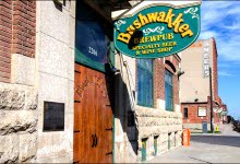Bushwakker Pub, headquarters of THE blackberry mead, is in the Strathdee building in Regina. (Julia Pelish/Vacay.ca)