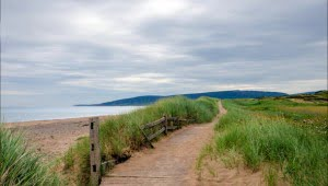 The boardwalk at Cabot Links Golf Course in Cape Breton, Nova Scotia. (Julia