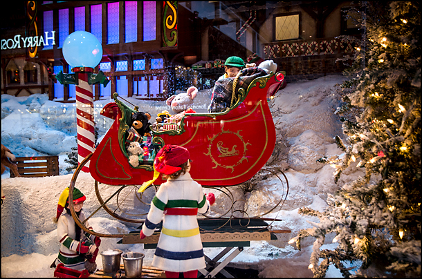 Hudson Bay Christmas window