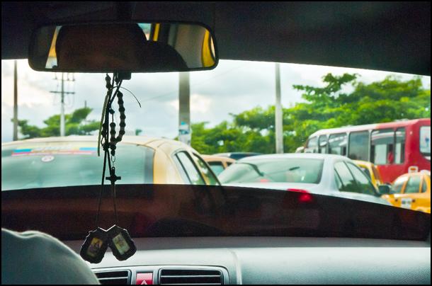 Traffic-jam-taxi
