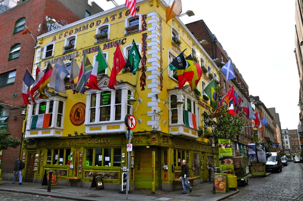 Gogarty Pub in Dublin, Ireland. (photo by Terry O'Neill)