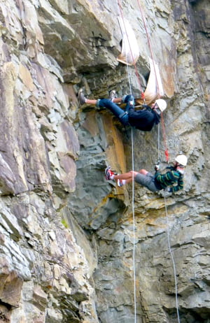 rappelling at Cape Enrage New Brunswick