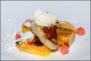 west-restaurant-seared-foie-gras-quince-bread-pudding