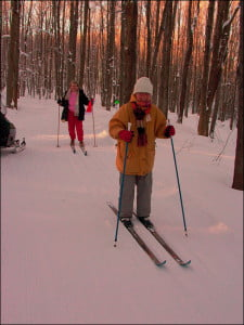 Enjoying the beautiful outdoor winter light while cross country skiing in Collingwood. (Photo by Stephen Smith)