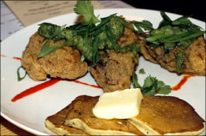 fried-chicken-corn-jalepeno-flapjacks-deer-+-almond-winnipeg
