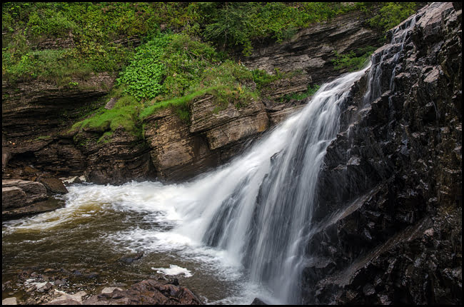Beautiful Kabir Kouba waterfalls in Wendake, Quebec. (Julia Pelish/Vacay.ca)