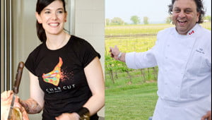 Celebrity chefs Connie Desousa of Charcut and Vikram Vij of Vij's are among the judges for the 2014 Vacay.ca Top 50 Restaurants in Canada. (Julia Pelish/Vacay.ca)