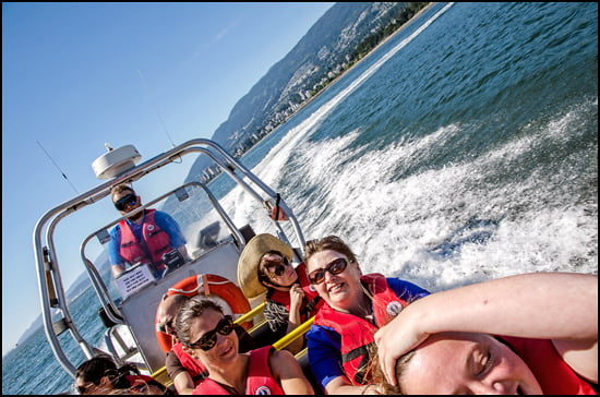Enjoying the wind and sun in English Bay on Sea Vancouver's sightseeing tour. (Julia Pelish/Vacay.ca)