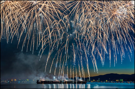 Team USA put on an amazing display on Saturday July 26, 2014 the first of three international teams to compete at what is the largest offshore fireworks competition in the world. (Julia Pelish/Vacay.ca)