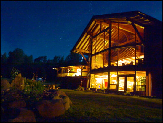 Stars wheel over Bear Claw Lodge on the Kisipiox River, northern BC. (Amanda Castleman Photo)