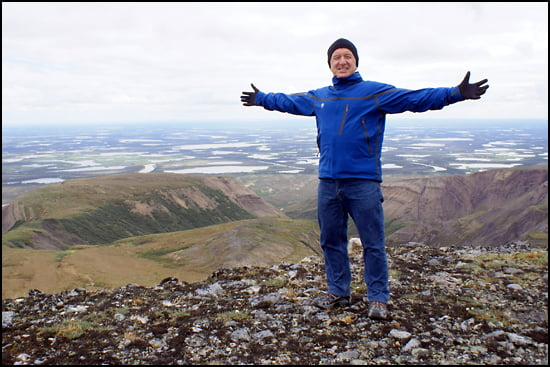 Ron James conquers the Yukon. (Photo courtesy of Ron James)