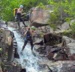 via-ferrata-vallee-bras-du-nord-quebec-waterfall