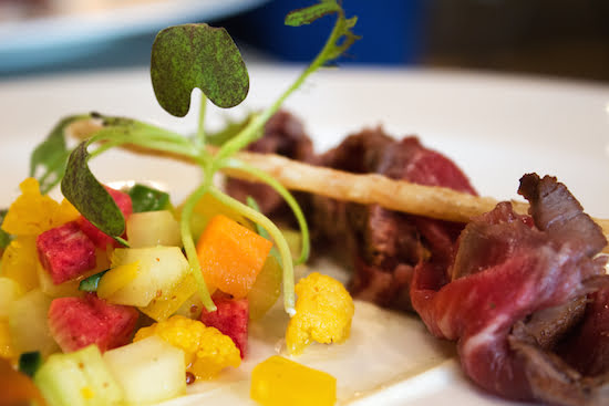 George Restaurant - Wagyu Beef, Curry Shallot, Pickled Vegetables