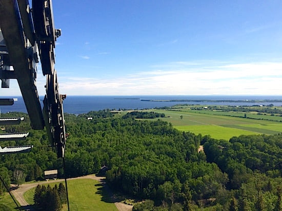 View from cable car of Lac-St-Jean-Quebec