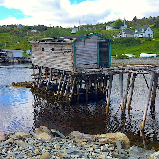 historical fish stages dot the harbours-newfoundland