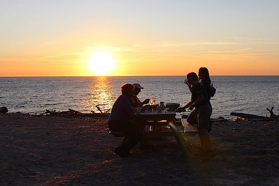 sunset-at-the-lobster-boil-at-la-bloc-cape-breton