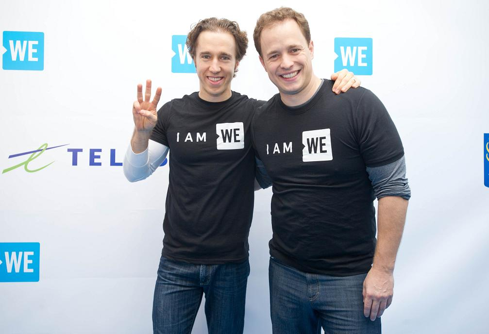 International activists and co-founders of WE, Craig (left) & Marc Kielburger, arrive on the WE Carpet at WE Day Toronto outside of the Air Canada Centre on October 19, 2016.MARKETWIRED PHOTO/WE Day