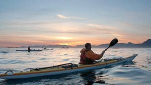 West Coast Expeditions kayaking into the sunet