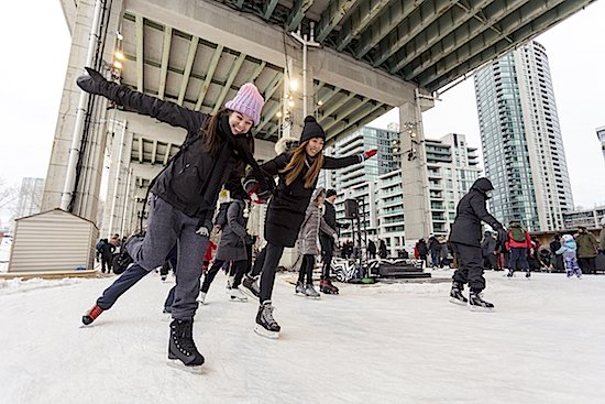 Skating at The Bentway Skate Trail - Denise Militzer