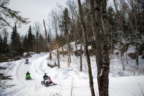 Snowmobiling Pourvoirie du Lac Blanc @ T. Mauricie, O. Croteau(5)