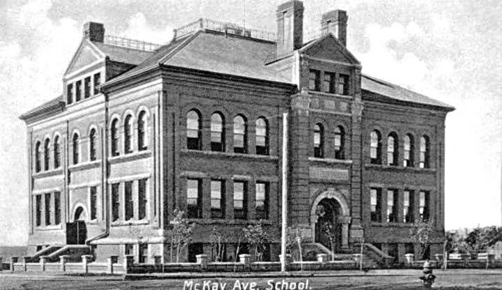 "McKay Avenue School, Edmonton. ©Provincial Archives of Alberta, A.2489 McKay Avenue School in Edmonton. ""Canada's Historic Places"" and Canadian Register of Historic Places (CRHP)"