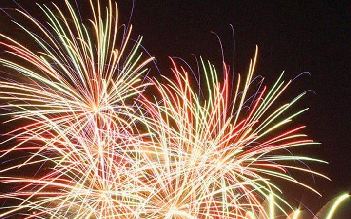 Mount Forest Firework Festival, Ontario, summer