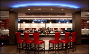 The bar at AG Restaurant, Niagara Falls, Ontario, Sterling Inn and Spa