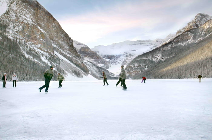 Ice Skating Fairmont Lake Louise