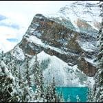 lake louise, hiking, winter, banff national park, alberta,