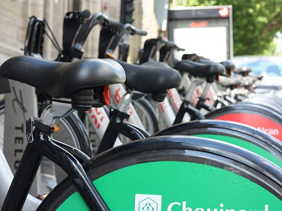 BIXI bikes for rent in Montreal, Quebec