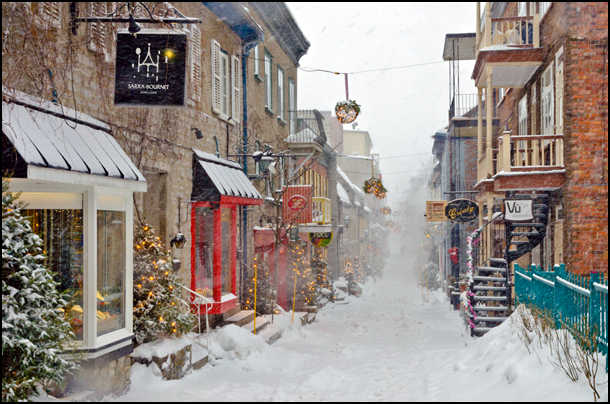 The charms of Quebec city seem all the cozier on a quiet winter day. (Julia Pelish/Vacay.ca)