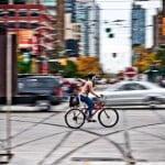 Cyclist - Queen & Spadina - Toronto