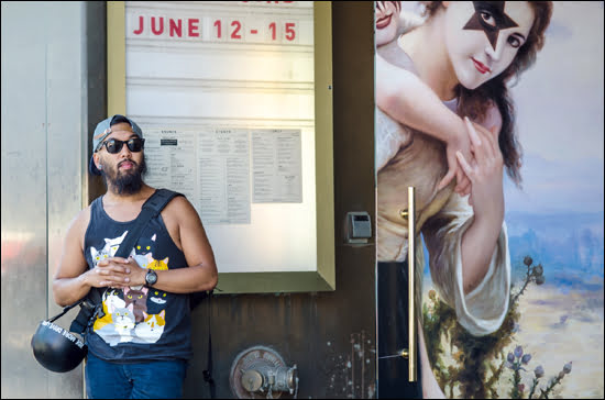 Taking a break outside of the Drake Hotel in Toronto on Queen West.  (Julia Pelish/Vacay.ca)