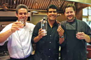 Chef Jose Salas, Tequila master Alfred Sanchez, Chef Andrew Winfield river cafe calgary