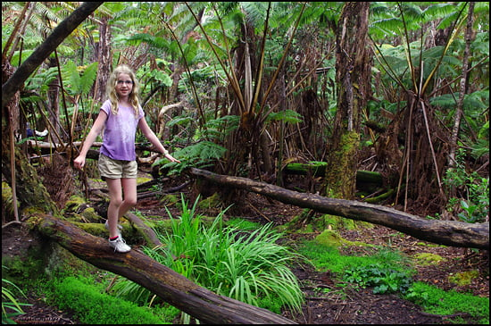 Eve Pigat playing in the rainforest/ (Jody Robbins/Vacay.ca)