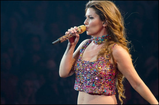 Shania Twain two nights of sold out performances brought adoring fans to their feet at the Saddledome during the 2014 Calgary Stampede.