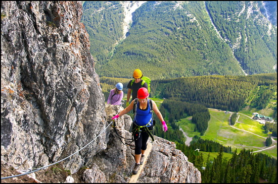 climbers-via-ferrata-banff-mount-norquay